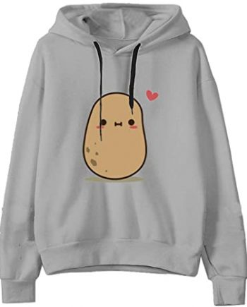 Felpe Carino Patate Stampato Hoodie