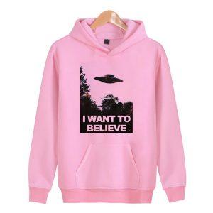 I Want To Believe Ahegao Pink Hoodie
