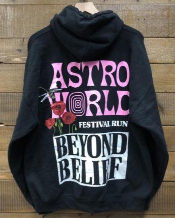 """Beyond Belief"" Festival Run Astroworld Tour Hoodie"