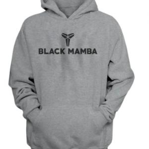 Kobe Bryant Black Mamba Print Gray Hoodie