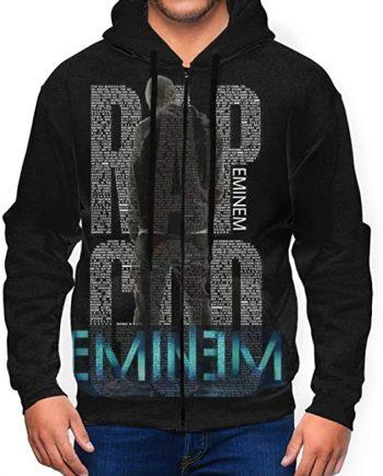 MarcoLyons Eminem Long Sleeve Black Sweatshirt Hooded