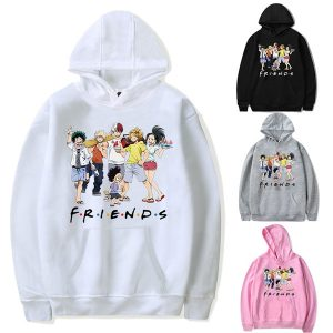 My Hero Academia Hoodie Men Casual Cotton Pullover Teens Fashion Outdoor Sweatshirt