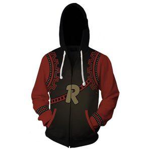 My Hero Academia Kirishima Eijiro Cosplay Costume Men's Casual Zip Up Hoodie red and black Sweatshirt