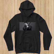 Rapper Eminem Print Black Fleece Hoodie