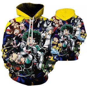 Newest Fashion WomenMen Anime My Hero Academia 3D Print Casual Sweatshirt Hoodies