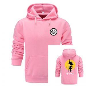 Super Saiyan Draggonball Z Dbz Son goku pocket hoodie in pink