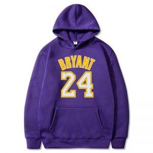 Kobe Bryant Purple Hoodie 24 lakers