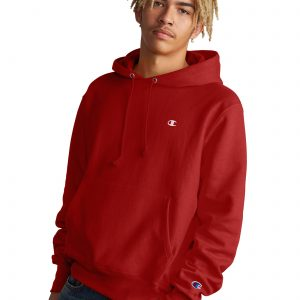 Reverse Weave Casual Champion Red Hoodie