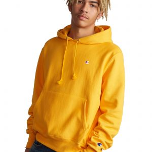 Reverse Weave Casual Champion Yellow Hoodie