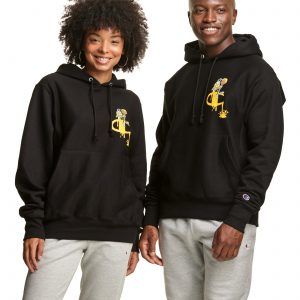 Reverse Weave Honey Nut Cheerios Black Hoodie