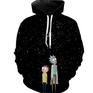 Rick And Morty Star Night 3D Hoodie