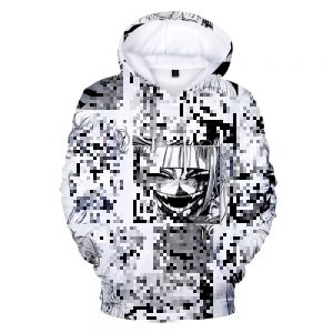 Shy Girl Anime 3D Printed Pullover Clothing White Hoodie