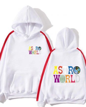 Travis Scotts Astroworld Pullover Hoodie- White