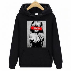Waifu Casual Pullover Clothing Black Ahegao Hoodie