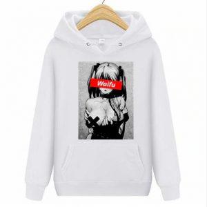 Waifu Casual Pullover Clothing White Ahegao Hoodie