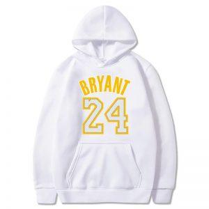 Kobe Bryant White hoodie 24 souvenir