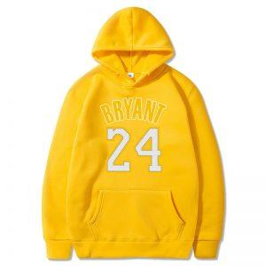 Kobe Bryant 24 Souvenir Hoodies in yellow