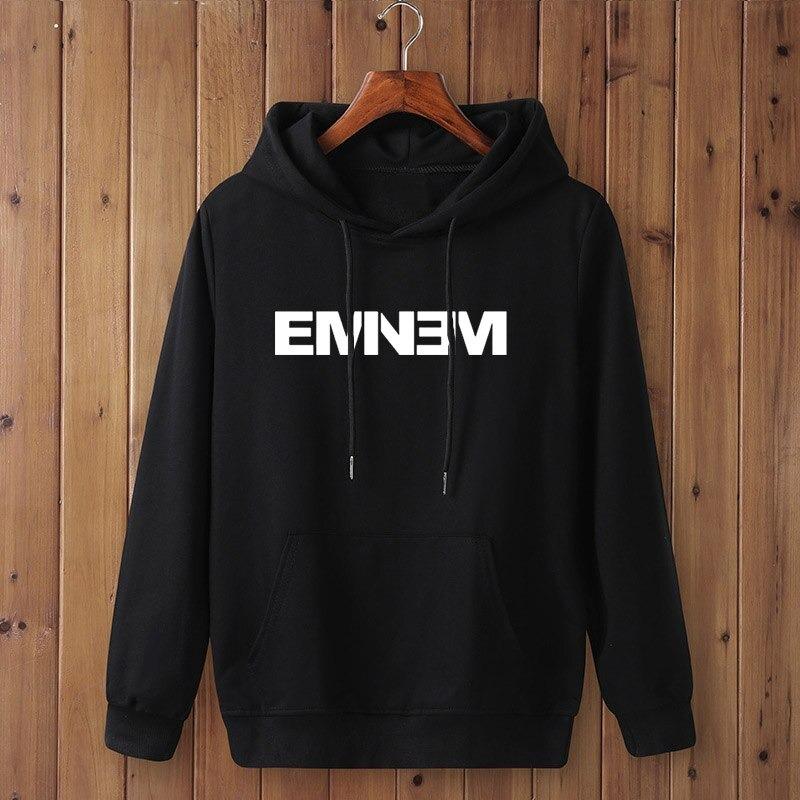 ashion EMINEM print Sweatshirt Clothes Menwomen Autumn Winter black Hip Hop Hooded