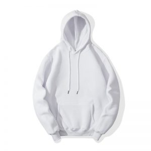 White Fleece Fashion Hoodie for Men