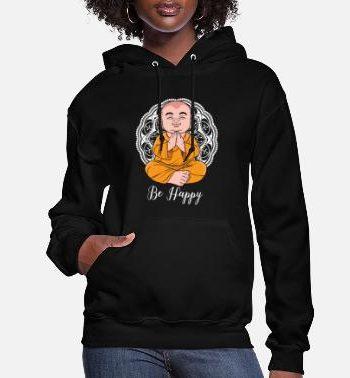 happiness-buddhist-monk-meditation-nirvana-womens-hoodie