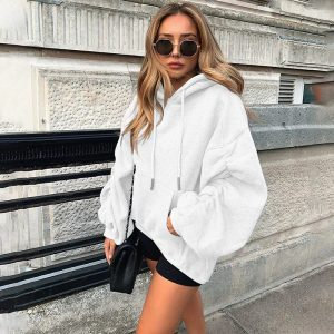 White Hoodie for Woman