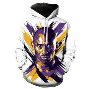 Kobe Bryant 3d Printed Hoodie in white