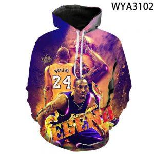 Kobe Bryant 3D Printed Hoodie Legend