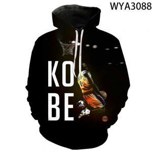 Kobe Bryant Pullover 3D Printed Black Hoodies