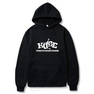 Kobe Bryant Black Hoodie printed logo