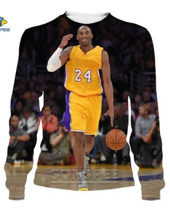 """Kobe Brayan NBA Lakers """"Legend"""" Pullover 3D Hoodie"""