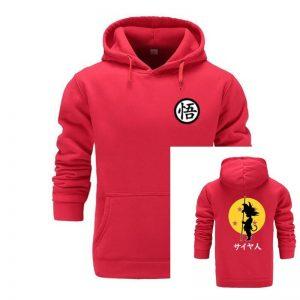 Super Saiyan Dragonball Z Dbz Son goku Pocket Hoodie in Red