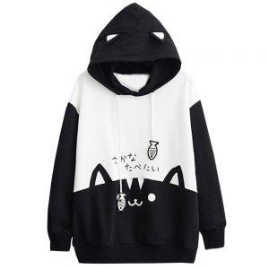 Cat Ear Hoodie Pullover Kawaii Cat Pocket hoodie