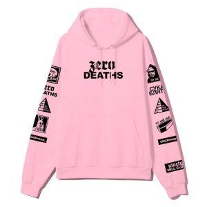 Zero Deaths PewDiePie Pink Hoodie