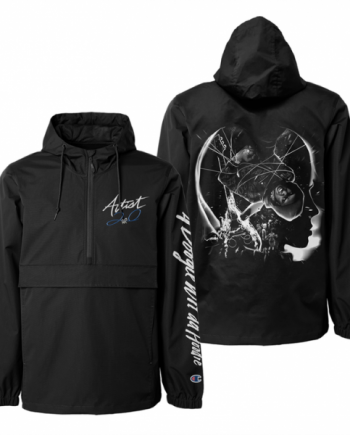 A Boogie Wit Da Graphics Printed Oversized Hoodie - Black
