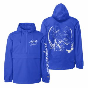 A BOOGIE WIT DA HOODIE ARTIST 2.0 BLUE WINDBREAKER + DIGITAL ALBUM