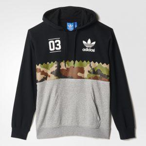 Adidas Trefoil Camo Grey Serrated Graphic Hoodie