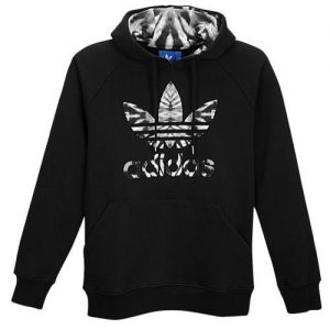 Adidas CNY Lunar Pull Over Trefoil Black Hoodie (front)