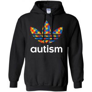 Adidas Autism Printed Trefoil Black Hoodie(front)