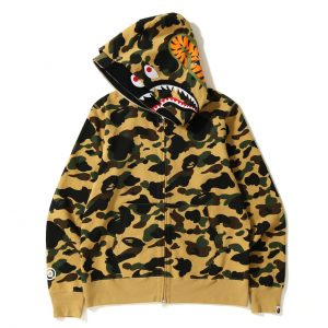 BAPE 1ST CAMO Double Shark Hoodies