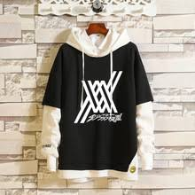 Darling In The Franxx Champion Black & White Hoodie