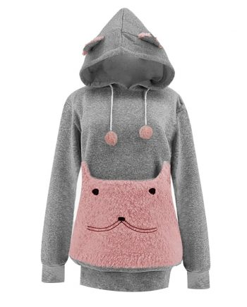 Big Pocket Pullovers Cat Pouch Hoodies