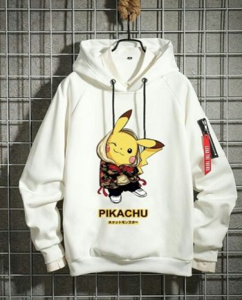 Black& White Couple Pikachu Hoodie