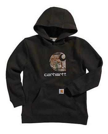 Carhartt Men's Rain Defender Black Hoodie(front)