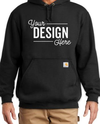 Your DESIGN Here Carhartt Pullover Black Hoodie(front)