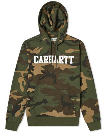 CARHARTT WIP Hooded College Camo Brown Hoodie(front)