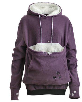 Aonibeier Winter Warm Pet Pouch Hoodie