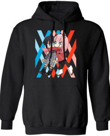 Crunchyroll Darling in the franxx Black Hoodies