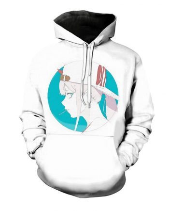 Darling in the Franxx Pullover White Hoodies(front)