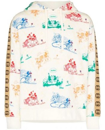 Gucci Hoodie Disney x Printed Loopback Cotton-Jersey(front)