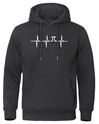 Electrocardiogram Graphic Simple Fleece Hoodie
